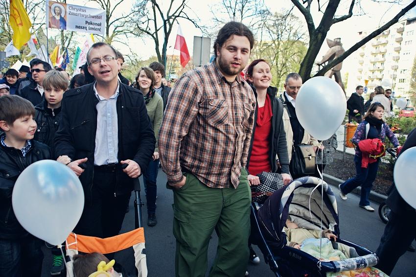 Marsz dla życia w Szczecinie-kwiecień 2012